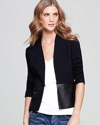 Bailey 44 Black Faux Leather Peplum Jacket
