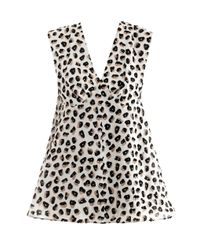 Balenciaga | Gray Bell Berlingot-Print Top | Lyst