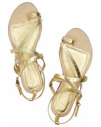Emilio Pucci - Metallic Leather Sandals - Lyst