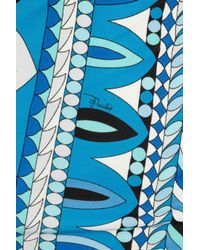 Emilio Pucci | Blue Printed Pattern Dress | Lyst