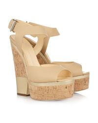 Giuseppe Zanotti - Metallic Leather and Cork Platform Sandals - Lyst