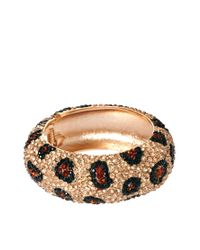 Kenneth Jay Lane - Multicolor Leopard Rhinestone Cuff - Lyst