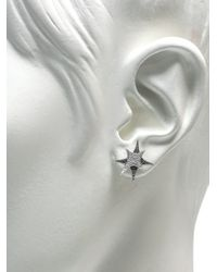 Stephen Webster - White Diamond and Gold Bang Stud Earrings - Lyst