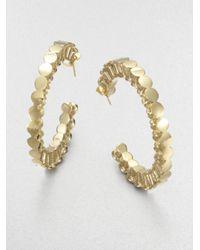 A.L.C. - Metallic Mini Push Pin Hoop Earrings - Lyst