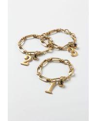 Anthropologie - Metallic Vintage Number Charm Bracelet - Lyst