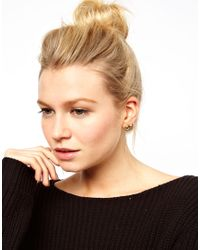 ASOS - Metallic Pig Earrings - Lyst
