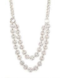 BaubleBar - Metallic Silver Button Collar - Lyst