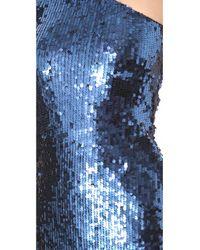 Blaque Label - Blue One Shoulder Sequin Dress - Lyst