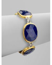 Gurhan | 24k Gold Sterling Silver Lapis Bracelet | Lyst