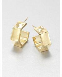 kate spade new york - Metallic Hexagon Wide Hoop Earrings75 - Lyst