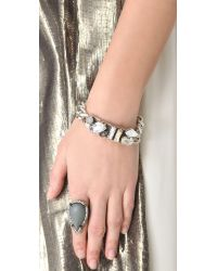 Made Her Think - Metallic Dame Id Bracelet - Lyst