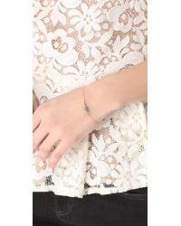 Made Her Think - Metallic Diamond Marquis Bracelet - Lyst