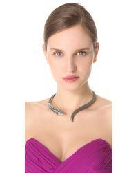 Made Her Think - Metallic Open Serpent Collar Necklace - Lyst