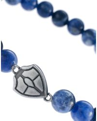 Simon Carter - Blue Shield Beaded Bracelet for Men - Lyst