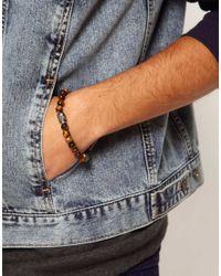 Simon Carter - Brown Skull Beaded Bracelet for Men - Lyst
