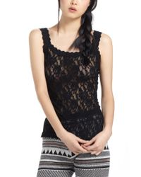Hanky Panky | Black Unlined Sheer Lace Camisole | Lyst