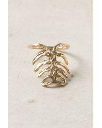 Anthropologie | Metallic Gilt Ribs Ring | Lyst