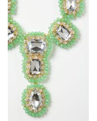 Anthropologie - Green Everjade Necklace - Lyst