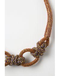 Anthropologie | Pink Shimmering Sailor Knot Necklace | Lyst
