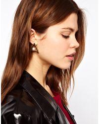ASOS - White Pearl Triangle Earrings - Lyst