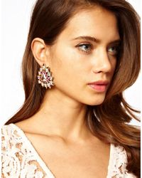 ASOS - Multicolor Triangle Leaf Earrings - Lyst