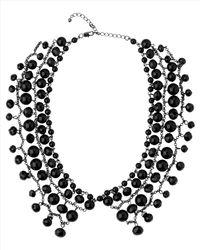 Jaeger - Black Beaded Collar Necklace - Lyst