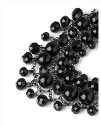 Jaeger - Black Beaded Collar Necklace - Lyst