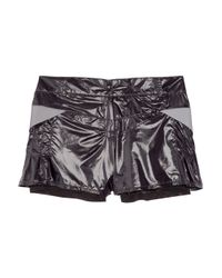 Lucas Hugh | Black Coot Pleated Shorts | Lyst