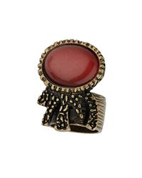 TOPSHOP | Red Catseye Off Band Ring | Lyst