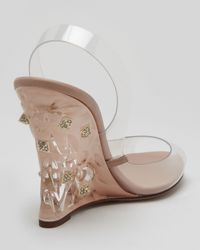 Valentino - Multicolor Naked Rockstud Wedge Sandal - Lyst