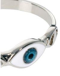 ASOS - Blue 3 Eye Cuff Bracelet - Lyst