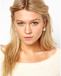 ASOS - Multicolor Crown Pearl Earrings - Lyst