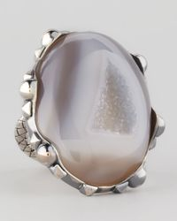 Bottega Veneta | Metallic Natural Stone Ring | Lyst