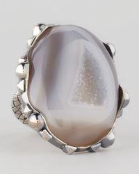 Bottega Veneta | Metallic Natural Stone Ring | Lyst