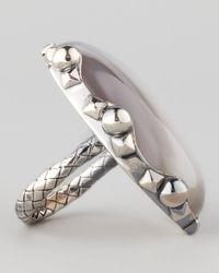 Bottega Veneta   Metallic Natural Stone Ring   Lyst