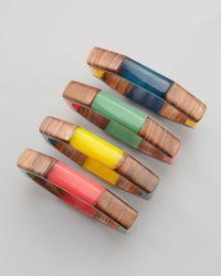 Chamak by Priya Kakkar | Multicolor Wooden Bangles | Lyst