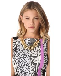 Juicy Couture - Metallic Chunky Link Necklace - Lyst