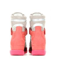 Marc By Marc Jacobs - Pink Kisha Hidden Wedge Sneakers - Lyst