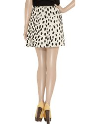 Sonia by Sonia Rykiel | Black Dalmatian-print Cotton-drill Skirt | Lyst
