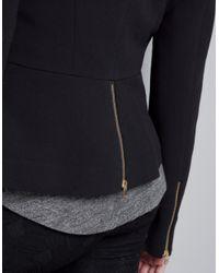 Zara | Black Blazer with Zips | Lyst