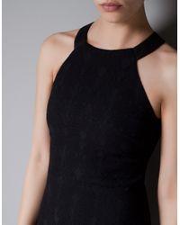 Zara | Black Jacquard Tube Dress | Lyst