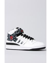 6430ee89911 Lyst - adidas The Forum Mid Sneaker in White Black in White for Men