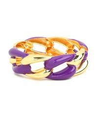 BaubleBar - Metallic Purple Link Cuff - Lyst
