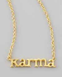 Dogeared - Metallic Karma Chain Necklace - Lyst