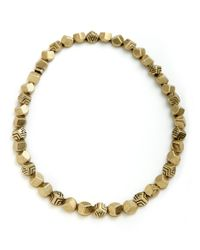 House of Harlow 1960 | Metallic Engraved Rocky Collar Necklace | Lyst