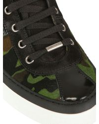 Jimmy Choo | Green Camouflage Pony Skin High Top Sneakers for Men | Lyst