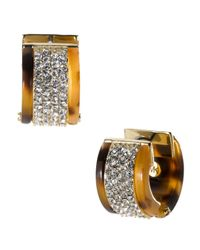 Michael Kors - Metallic Pave Huggie Earrings - Lyst