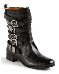 Nine West | Black Saidee Buckle Boots | Lyst