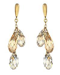 Swarovski   Metallic Gold & Multi-Stone Lagoon Earrings   Lyst