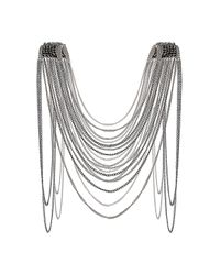 TOPSHOP - Metallic Bead Shoulder Drape Necklace - Lyst